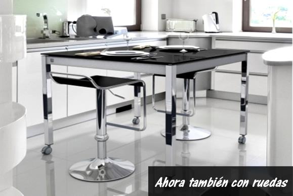 Nueva mesa a medida con ruedas - cocinasalemanas.com