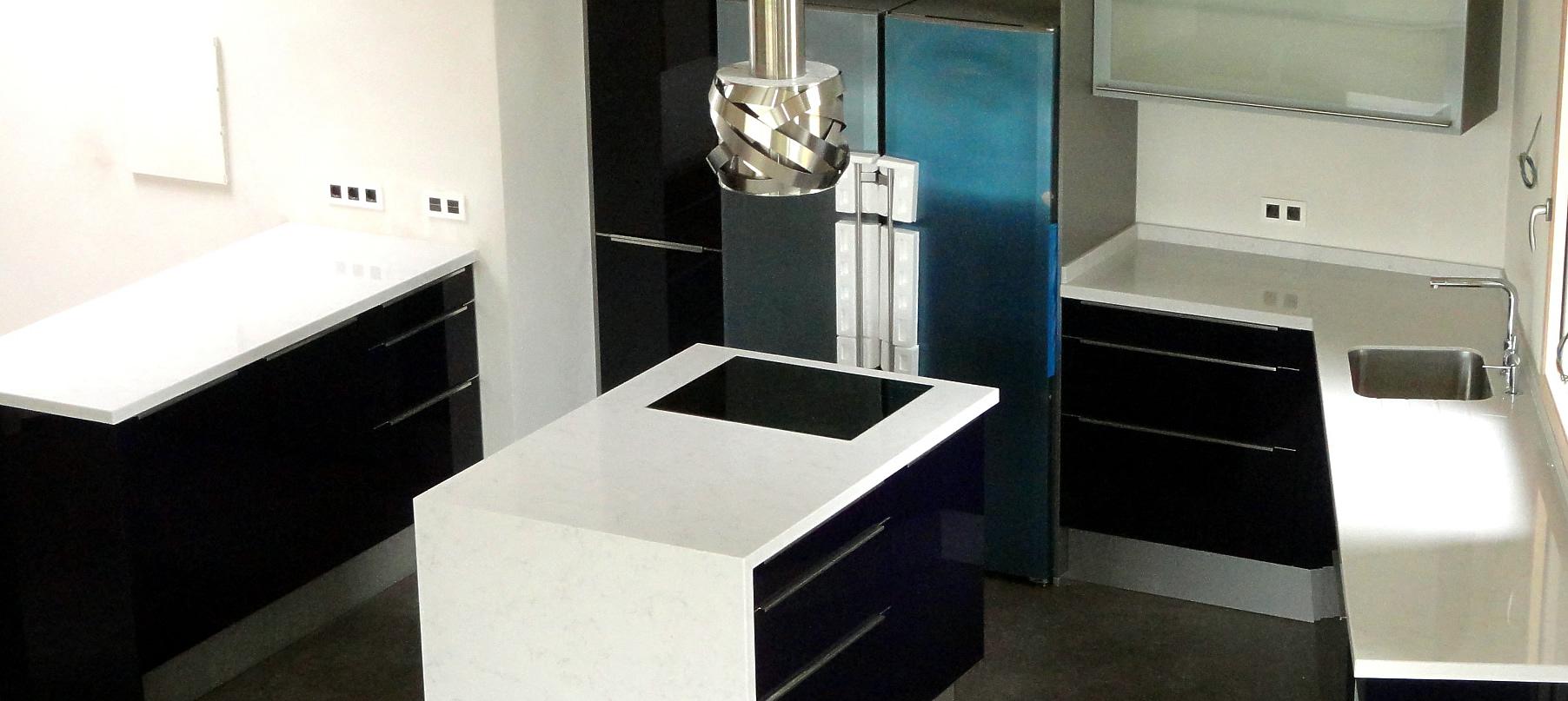 muebles de cocina de cristal