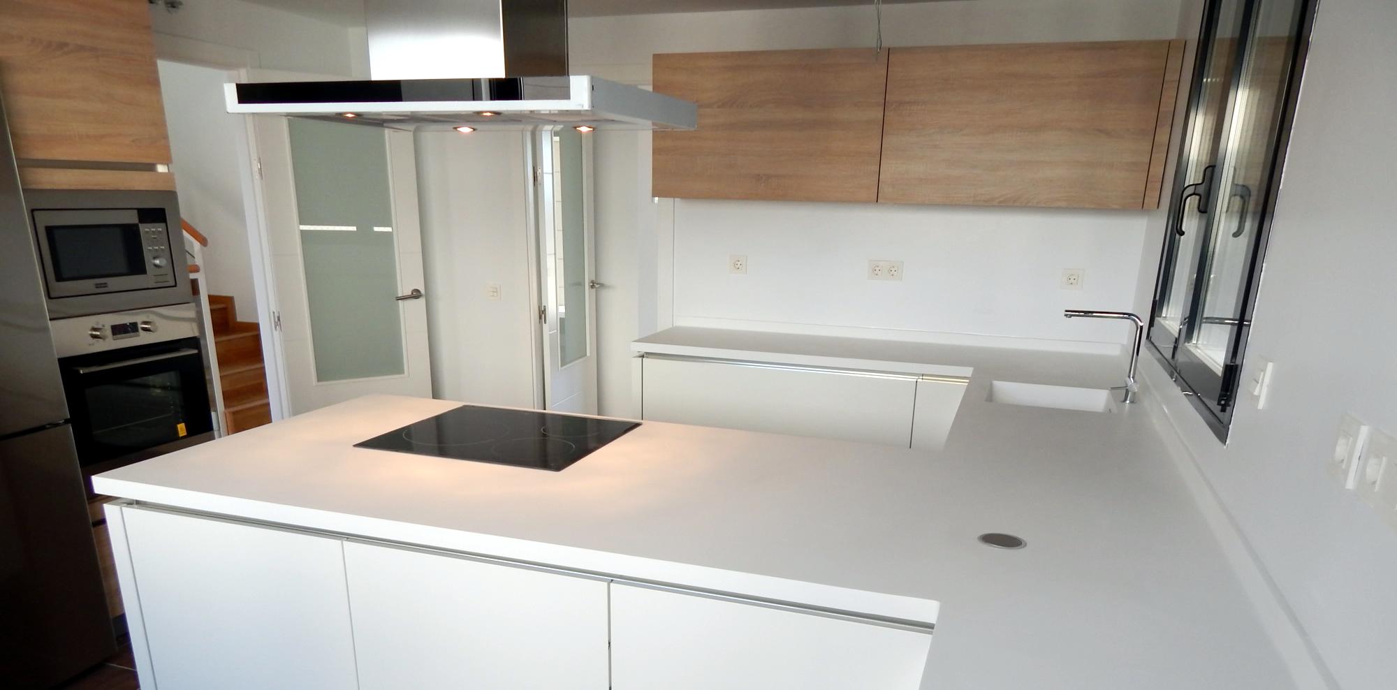 Muebles de cocina dise o en blanco - Diseno para cocina ...