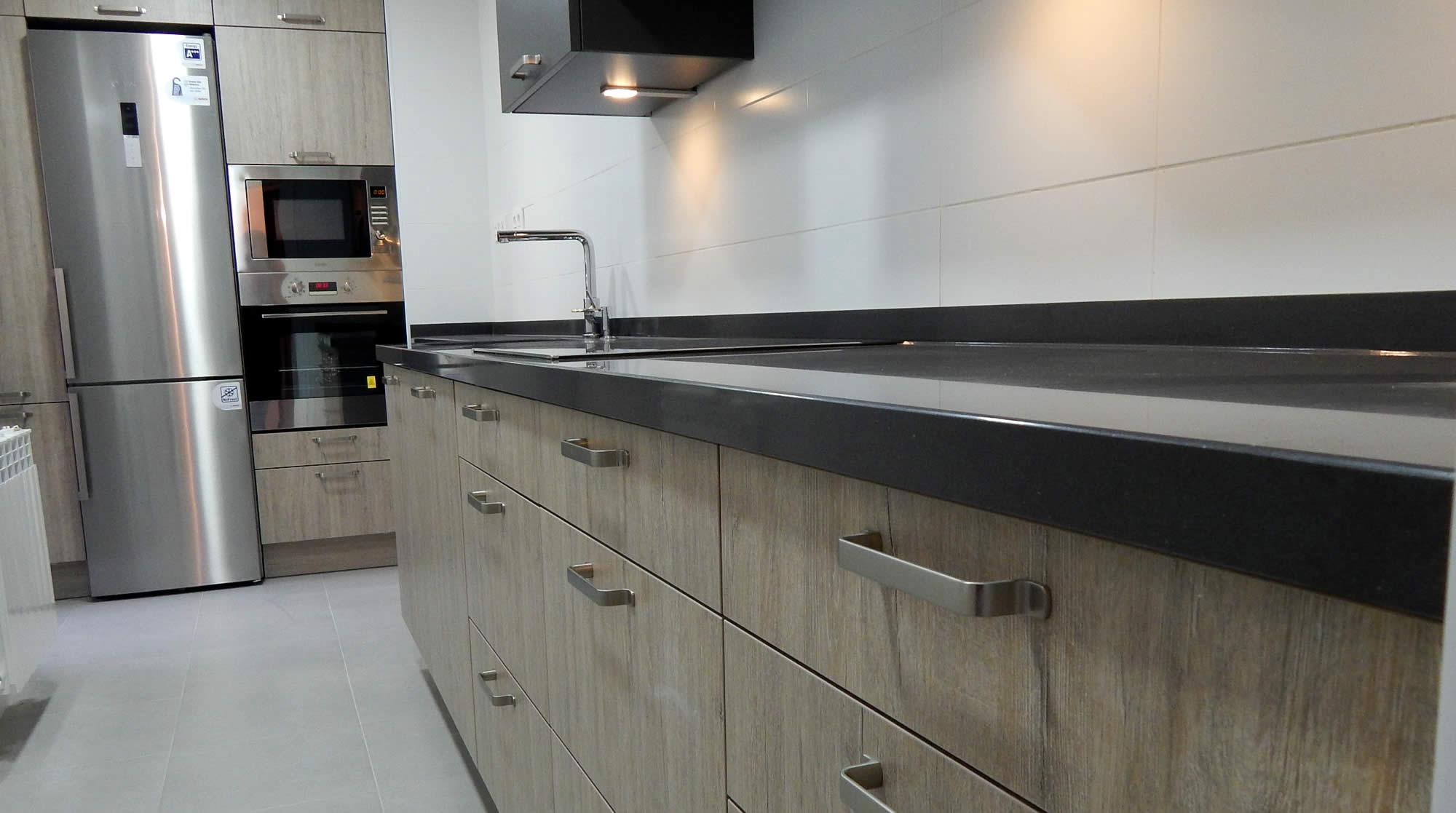 Muebles de cocina modelo bali for Cocinas de madera de roble