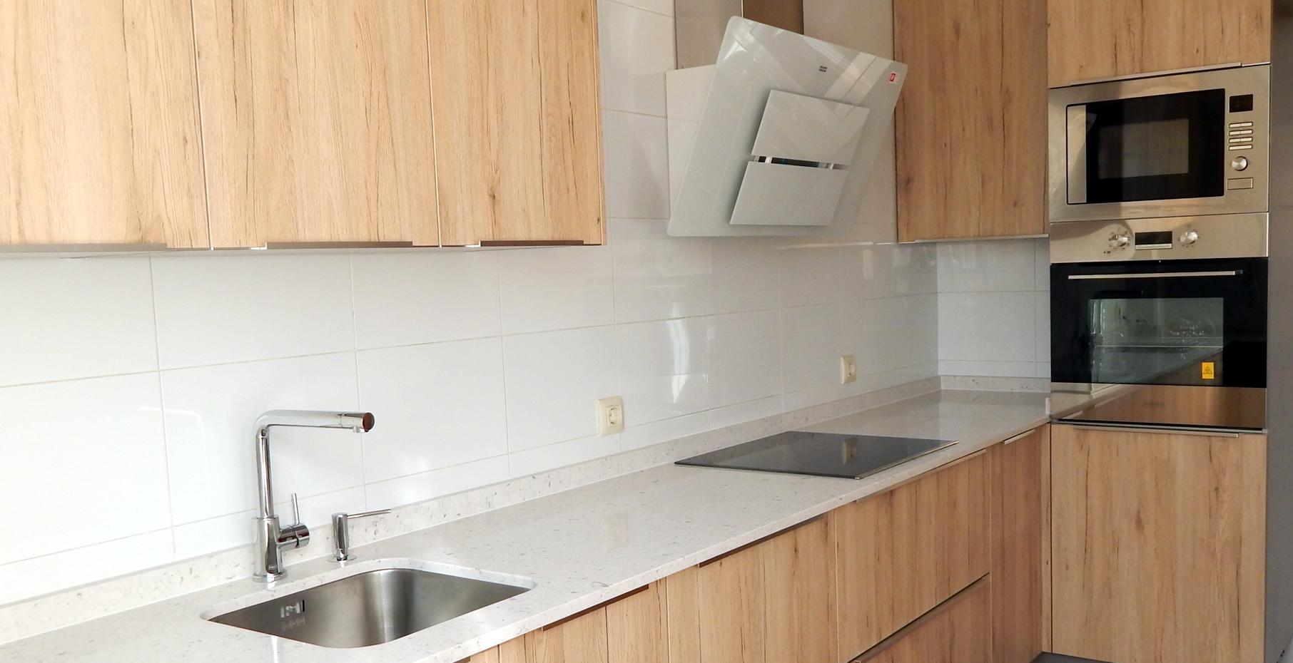 muebles de cocina roble arena
