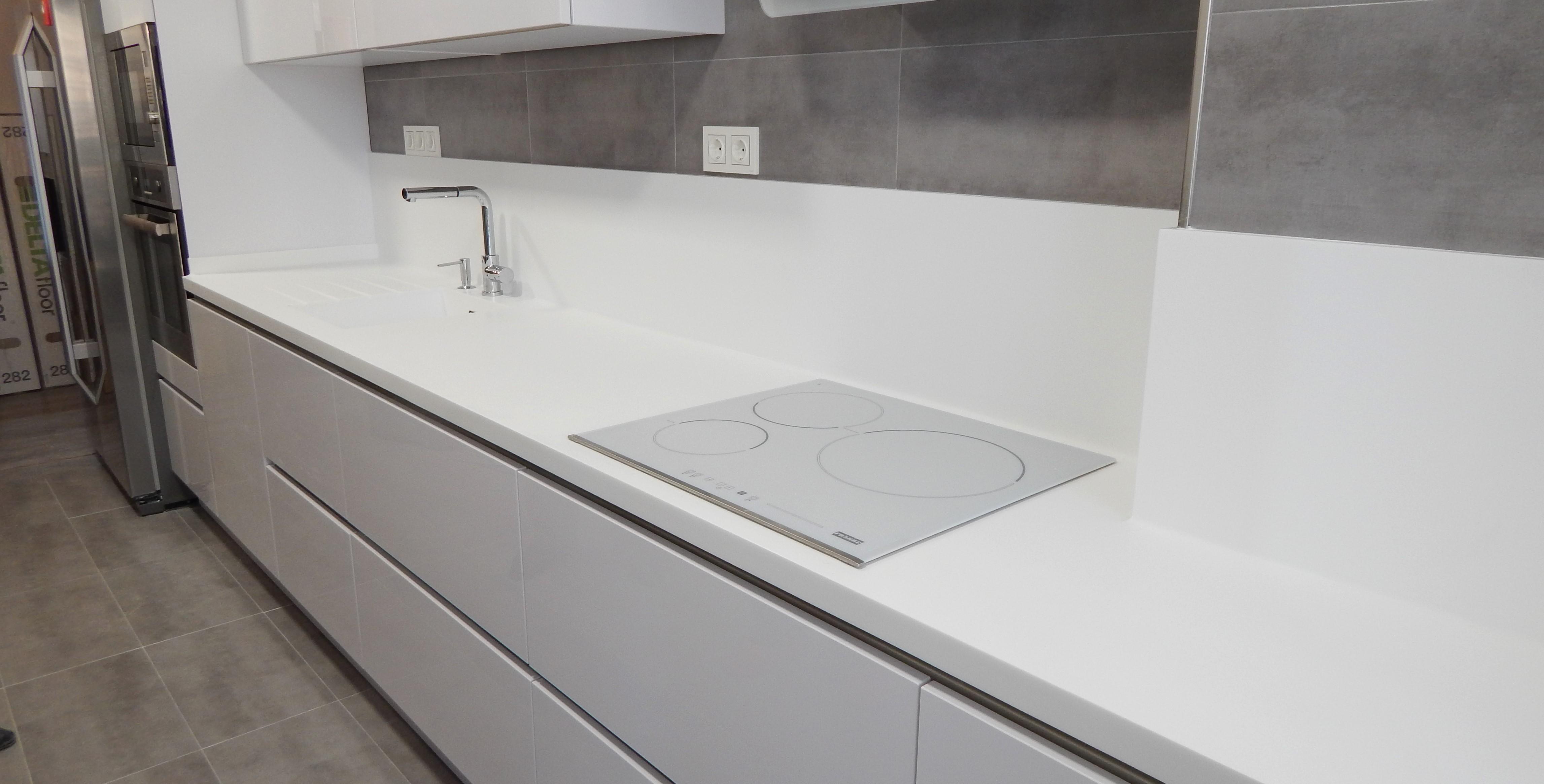 Muebles de cocina en blanco brillante - Muebles de cocina blancos ...