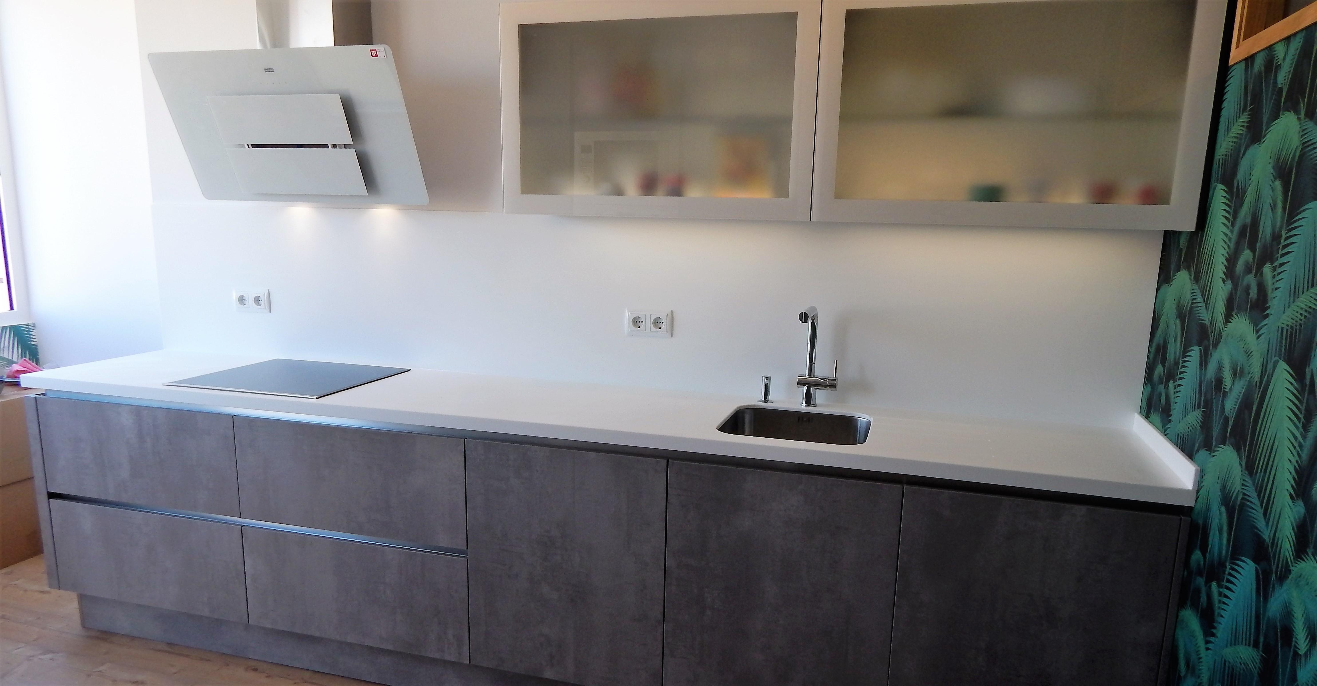 Muebles de cocina comet gris perla for Muebles de cocina gris